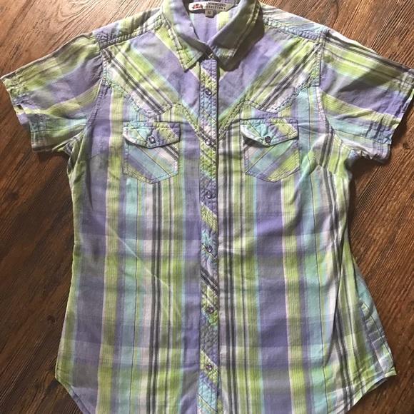 cb00e9a77 Cumberland Outfitters Tops   Short Sleeve Western Shirt   Poshmark